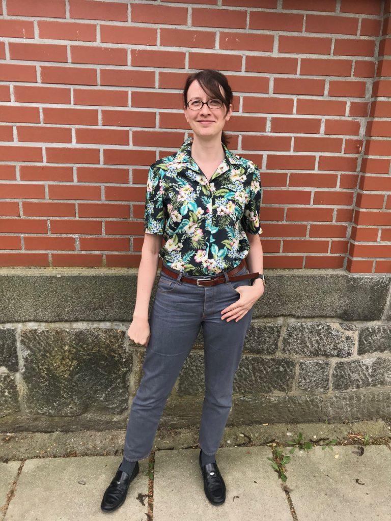 Bruna-Bluse LMV mit Morgan Jeans